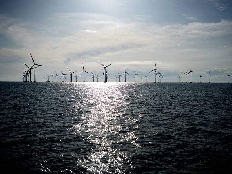 Εικόνα αρχείου: μια τυπική αιολικής εγκατάστασης ανοικτής θάλασσας (CREDIT: Siemens)