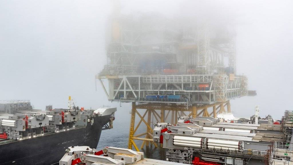 Η κορυφή 22.000 τόνων για την πλατφόρμα γεώτρησης στη θέση του στο πεδίο Johan Sverdrup. (Φωτογραφία: Bo Β. Randulff / Equinor ASA)