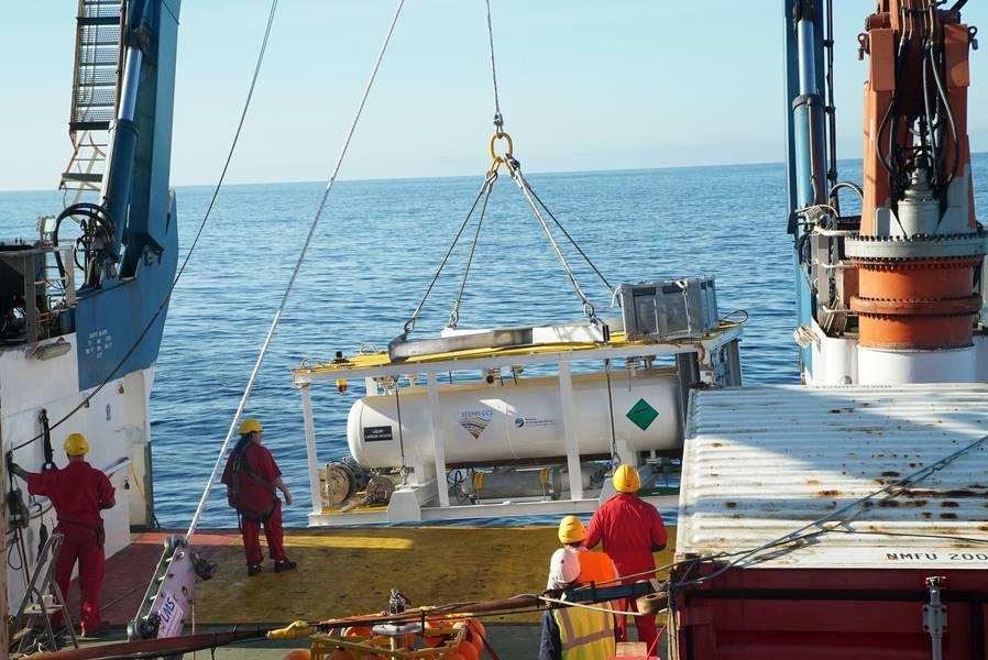 二氧化碳供应罐必须经过特殊设计,以承受北海环境的严峻考验。图片:版权所有STEMM-CCS项目