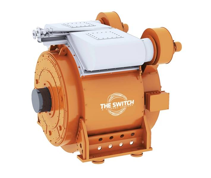 二重用途:The Switchの船舶用永久磁石モーター。画像提供:スイッチ