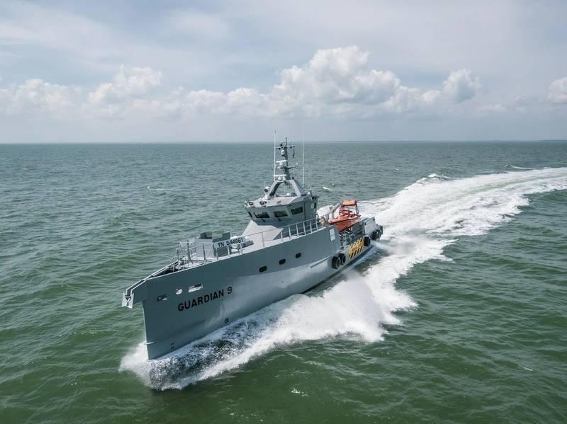 Damen entregó recientemente un par de patrulleros de alta especificación FCS 3307 para ser operados por Homeland Integrated Offshore Services (Homeland IOS Ltd) en Nigeria. Foto: Damen