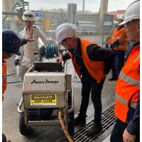 Australian Pump, an Australian designer and manufacturer of high-pressure cleaning equipment, was chosen to design and build 4,000 psi high pressure water blasters for Sydney's Garden Island Dockyard.