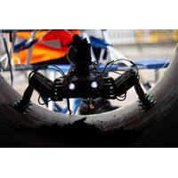 BladeBUG is a blade walking inspection robot, focusing on leading edge erosion inspection. Images from ORE Catapult.