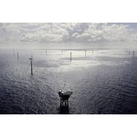 Borkum Riffgrund 1 Offshore Wind Farm adjacent to the planned Borkum Riffgrund 3 project. (Photo: Ørsted)
