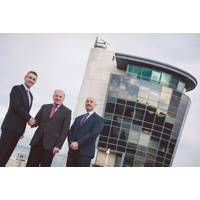 """Andy Doggett, director of Unique Group's survey equipment division; Stan Moroney, former owner of GSE Rentals; and Ray Hughes, managing director of Unique System UK Limited"""" (from left to right) (Photo:Unique Group)"""