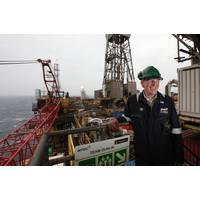 Fairfield Energy COO Ian Sharp on board Dunlin platform which recently had investment of £70 million to help increase and sustain production.