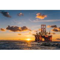 Illustration; An offshore drilling rig