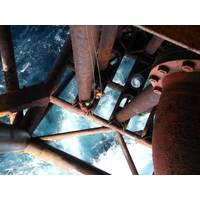 CAN inspectors carry out close visual and ultrasonic inspections as part of a conductor survey.