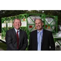 Dave McLeod (left) with EnerMech chief executive officer Doug Duguid