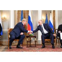 File photo: Donald Trump and Vladimir Putin in July 2018 (Official White House photo by Shealah Craighead)