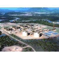 Rendering of the LNG export facility (Image: LNG Canada)