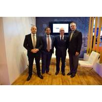 From left to right: Adnan Ezzarhouni, General Manager, GTT; Aditya Aggarwal, ABS Director, Global Gas Development; Philippe Sibille, Chairman and CEO, GTT; and Christopher J. Wiernicki, Chairman, President and CEO, ABS. Photo: ABS