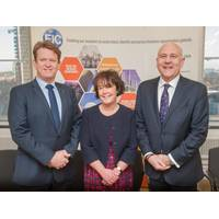 Left to RIght New EIC Board Members Duncan Reed and Louise Ledgard with EIC CEO Stuart Broadley (Photo: EIC)