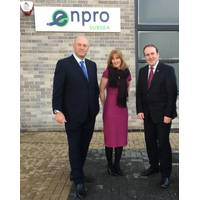 (left to right): Ian Donald, managing director of Enpro Subsea, Anke Heggie, company growth director (oil & gas) from Scottish Enterprise and Minister for Business, Innovation and Energy, Paul Wheelhouse MSP. (Enpro Subsea)