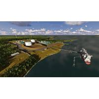 View of Bear Head LNG's terminal site and design rendering (under development) Pic. courtesy Bear Head LNG