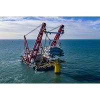 DEME vessel installing SeaMade substation - Credit: Deme