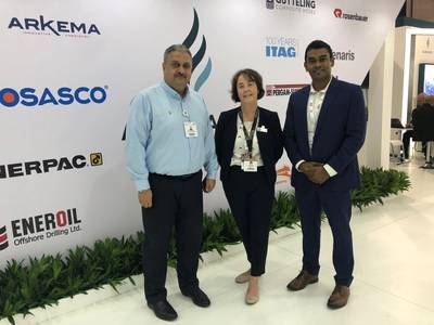 Bakri Tarmanini, Business Development Manager at Al Masaood Oil & Gas; Louise Ledgard, Director Business Development at BMT; and Suba Sivandran, Director of Capability & Strategy at BMT (Photo: BMT)