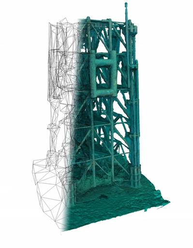 Becoming a NVIDIA member will allow Rovco to enhance its 3D reconstruction capabilities and inspection techniques. Picture – 3D reconstruction of jacket structure. (Photo: Rovco)