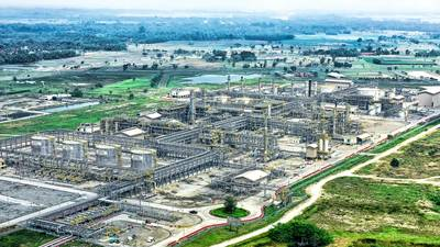 The Central Processing Facility of Banyu Urip field located in Bojonegoro, East Java.  (Photo: ExxonMobil)