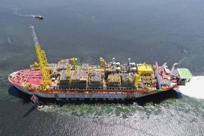 Liza Destiny FPSO is currently producing oil at the Stabroek Block off Guyana - Image Credit: SBM Offshore
