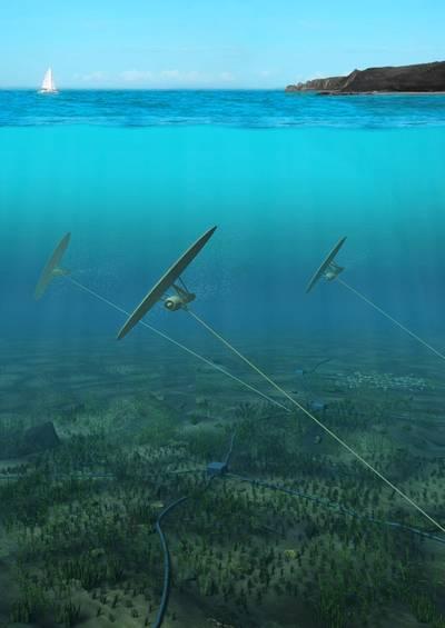 Deep Green tidal array. (Image: Minesto)
