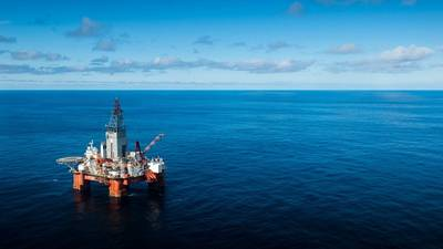 The West Hercules drilling rig in the Barents Sea. (Photo: Ole Jørgen Bratland / Equinor)