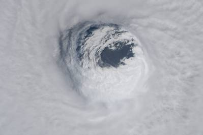 A view of the eye of Hurricane Michael taken on October 10, 2018 from the International Space Station currently orbiting Earth. The photo was taken by NASA astronaut Dr. Serena M. Auñón-Chancellor. (Credit: NASA)