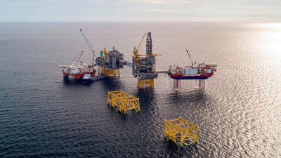 The Johan Sverdrup field in the North Sea. (Photo: Equinor ASA)