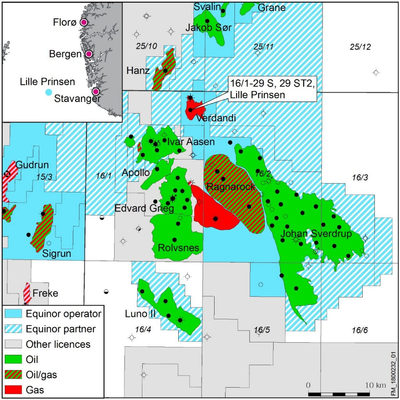 Map Lille Prinsen discovery (Photo: Equinor)