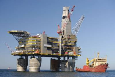The Lunskaya-A (LUN-A) platform produces the bulk of gas under Sakhalin II. (Photo: Gazprom)