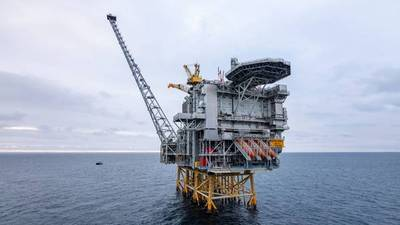 The Martin Linge platform in the North Sea. (Photo: Jan Arne Wold / Woldcam - Equinor ASA)