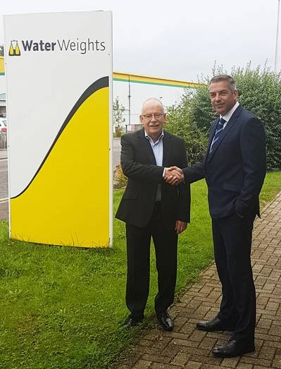 Alan Milne, Managing Director, Water Weights; with Graham Brading, Group Director - Buoyancy & Ballast at Unique Group (Photo: Unique Group)