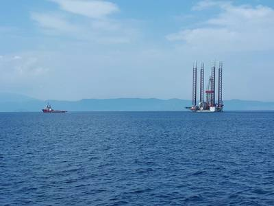 File photo: GSP Jupiter rig towed to Epsilon Oil Field (Photo: Energean)