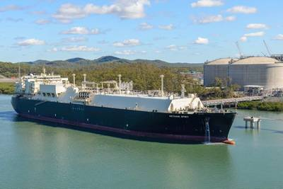 File photo: Methane Spirit loads from the Australia Pacific LNG Gladstone terminal (Photo: Teekay)