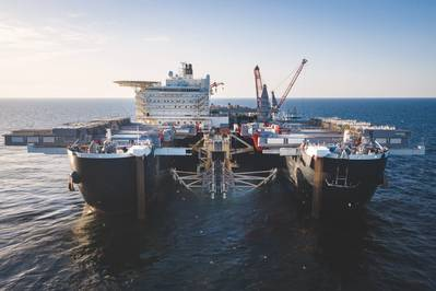 Pipelaying operations underway (© Nord Stream 2 / Axel Schmidt)