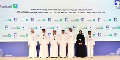 Saudi Aramco and ADNOC MoU signing ceremony. Photo: Saudi Aramco