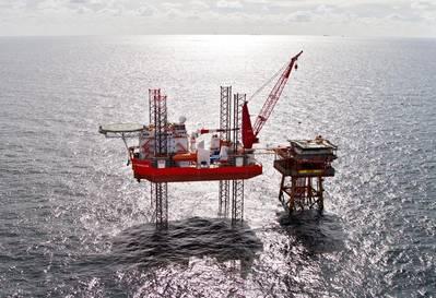 A GMS self-elevating rig - Image credit: GMS