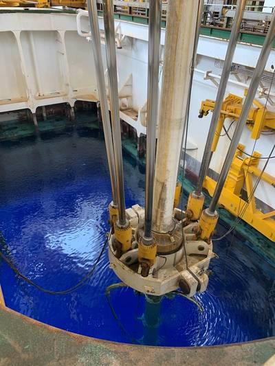 Stena's DrillMAX drilling Karish North, offshore Israel (Photo: Energean)