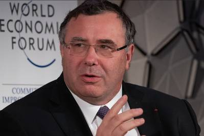 Total CEO Patrick Pouyanee (File Photo. Credit: World Economic Forum/CC BY-NC-SA 2.0