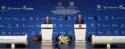 Vladimir Putin and Recep Tayyip Erdogan. Photo by RIA Novosti/Gazprom