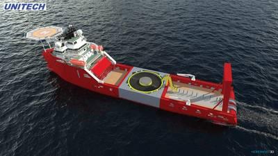 التحديثية: عمل جديد في الرياح لسفينة معالجة المرساة. التوضيح: مجاملة يونيتك