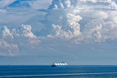توضيح؛ ناقلة الغاز الطبيعي المسال - صورة ايجور جروشيف -