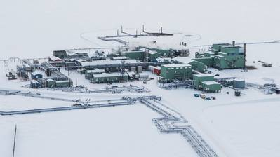 बीपी अलास्का के Prudhoe बे संचालन (फोटो: बीपी)