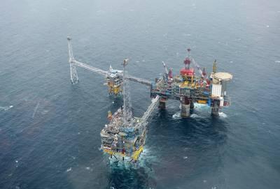 Desde 1996, el campo Sleipner operado por Equinor en alta mar en Noruega se ha utilizado como una instalación de captura y almacenamiento de carbono, lo que marca el proyecto de almacenamiento de CO2 en curso más largo del mundo. (Foto: Harald Pettersen / Equinor)