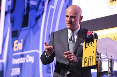 Eni CEO Claudio Descalzi(ファイル写真:Eni)