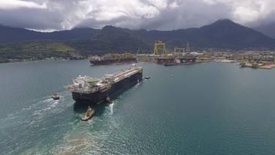 FPSO P-69 является стандартизированным производственным судном на шельфе Бразилии мощностью 150 000 баррелей нефти и 6 миллионов кубических футов природного газа в день. Изображение: Shell