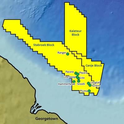 Hallazgos anteriores en el bloque Stabroek (Imagen: ExxonMobil)