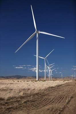 Imagen de archivo: Una granja de turbinas eólicas Vestas (Vestas)