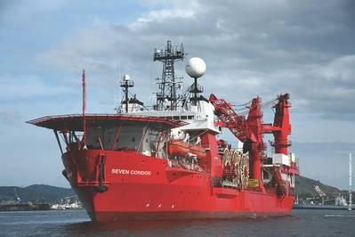 Imagen de archivo: Un buque de apoyo submarino 7 submarino. CRÉDITO: Subsea 7