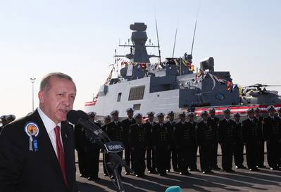 Presidente Tayyip Erdogan faz discurso em 4 de novembro (Foto: Gabinete do Presidente Tayyip Erdogan)